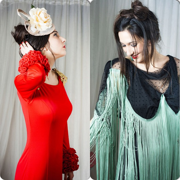 collage vestido de flamenca, eva zamorano