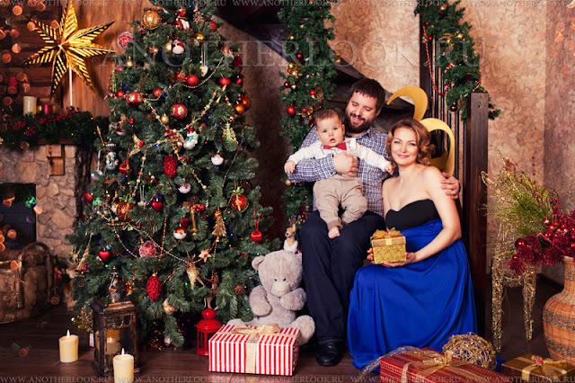 семья фотосессия новый год