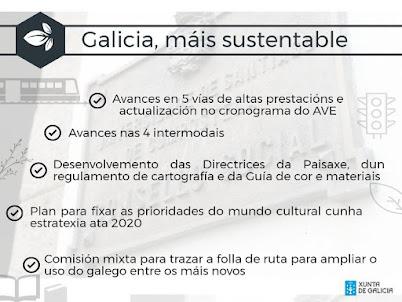 Galicia máis sustentable: infraestruturas, cultura, língua... 100 días do goberno