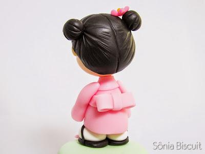 Gueixa Biscuit Lembrancinha Japonesa Kimono Quimono