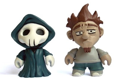 "Me and Mr. Death Resin Figures by Roberto ""RX"" Giont"