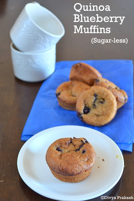 Blueberry muffins with Quinoa, Baking with Quinoa