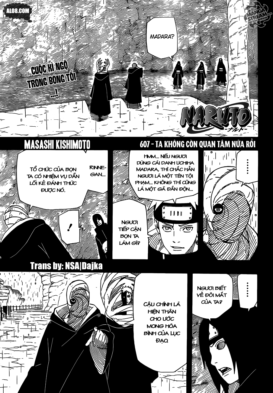 Naruto chap 607 Trang 1 - Mangak.info