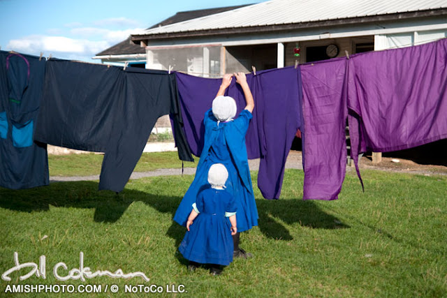 Amish photos Bill Coleman Laundry Day