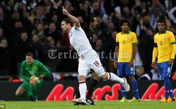 Hasil Inggris VS Brazil Februari 2013