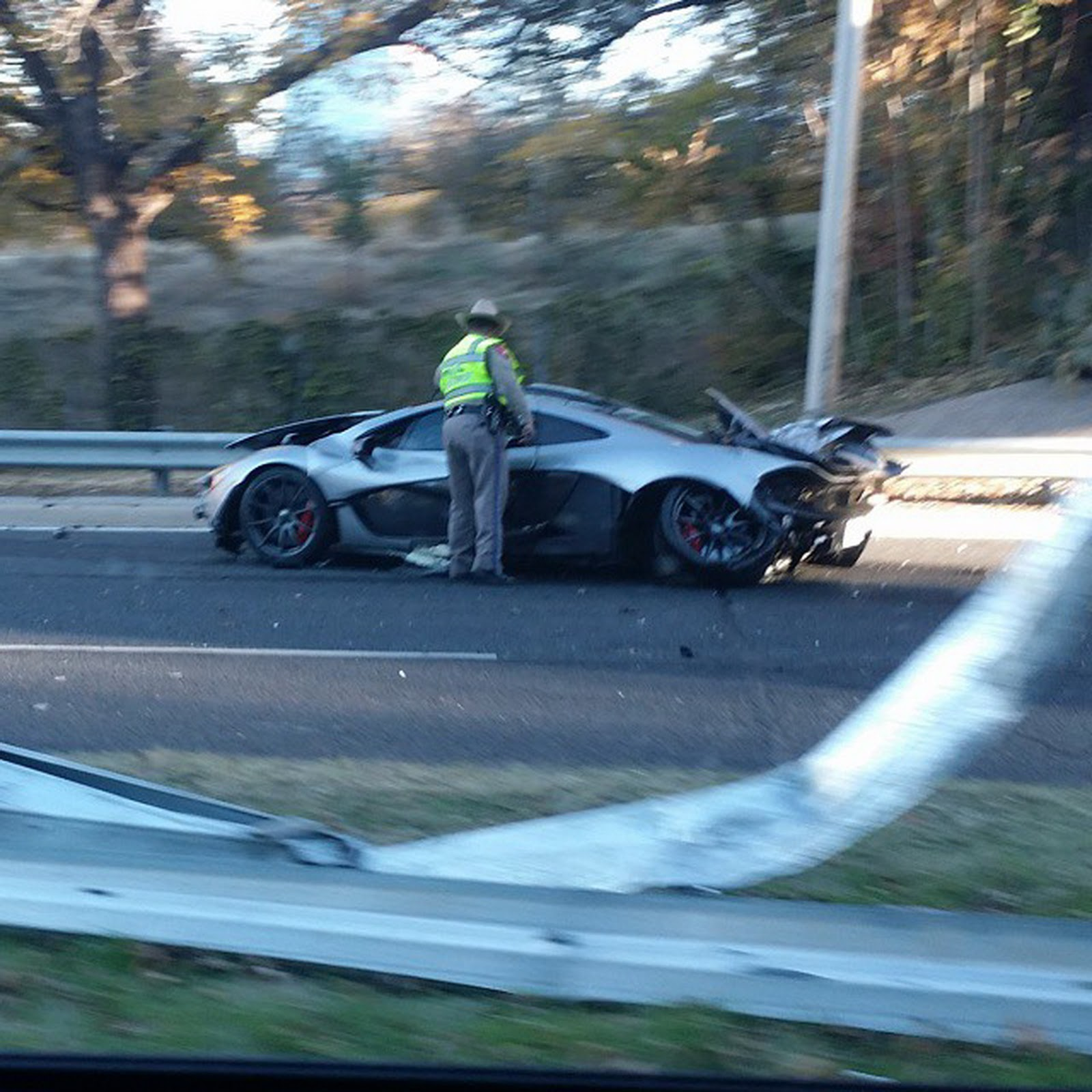 A $1.15 Million McLaren P1 Just Crashed In Dallas, Texas