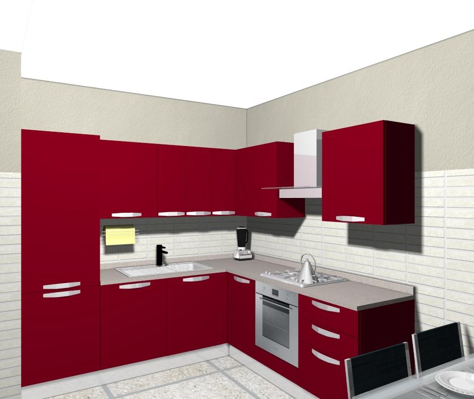 Domus arredi una cucina rossa grande carattere for Cucine rosse