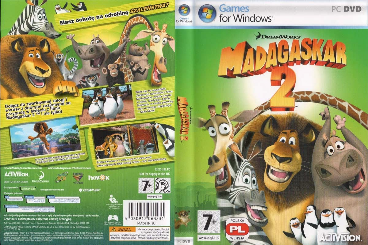 Madagascar: Escape 2 Africa PC DVD Capa