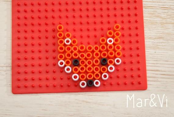 cómo hacer un zorro de Hama Beads