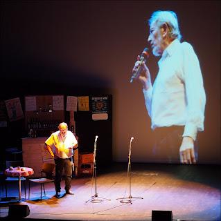 Hommage à Albert Poulain, par Calixe, au théâtre de Redon en octobre 2015