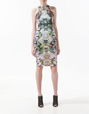 Zara flowery dress