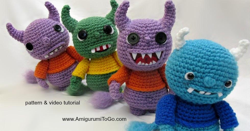 Amigurumi Monsters : Yarny Monsters Pattern and Video ~ Amigurumi To Go