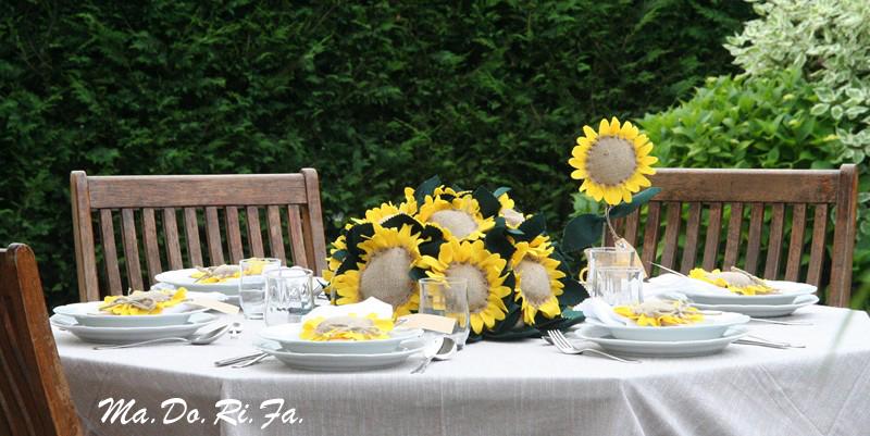 Segnaposti Matrimonio Girasoli : Ma do ri fà eventi le nozze in giallo i girasoli