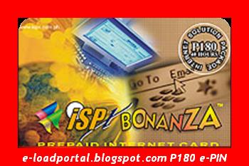 isp bonanza prepaid internet card 180 e pin - Prepaid Internet Card