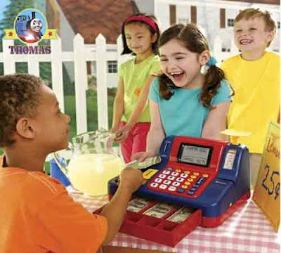 Teaching Cash Register toys best financial education for kids printable paper play money with Thomas