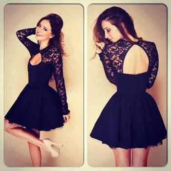 Vestidos de moda para fiestas cortos negro