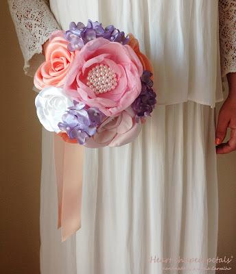 wedding fabric bouquet