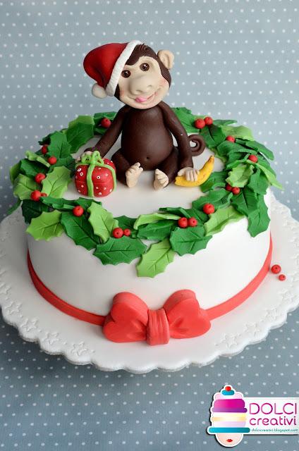 Santa Monkey's Cake