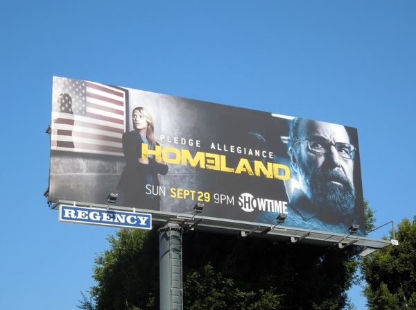 Homeland season 3 Pledge Allegiance billboard