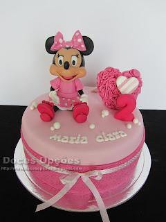 Bolo do 2º aniversário da Maria Clara com a Minnie