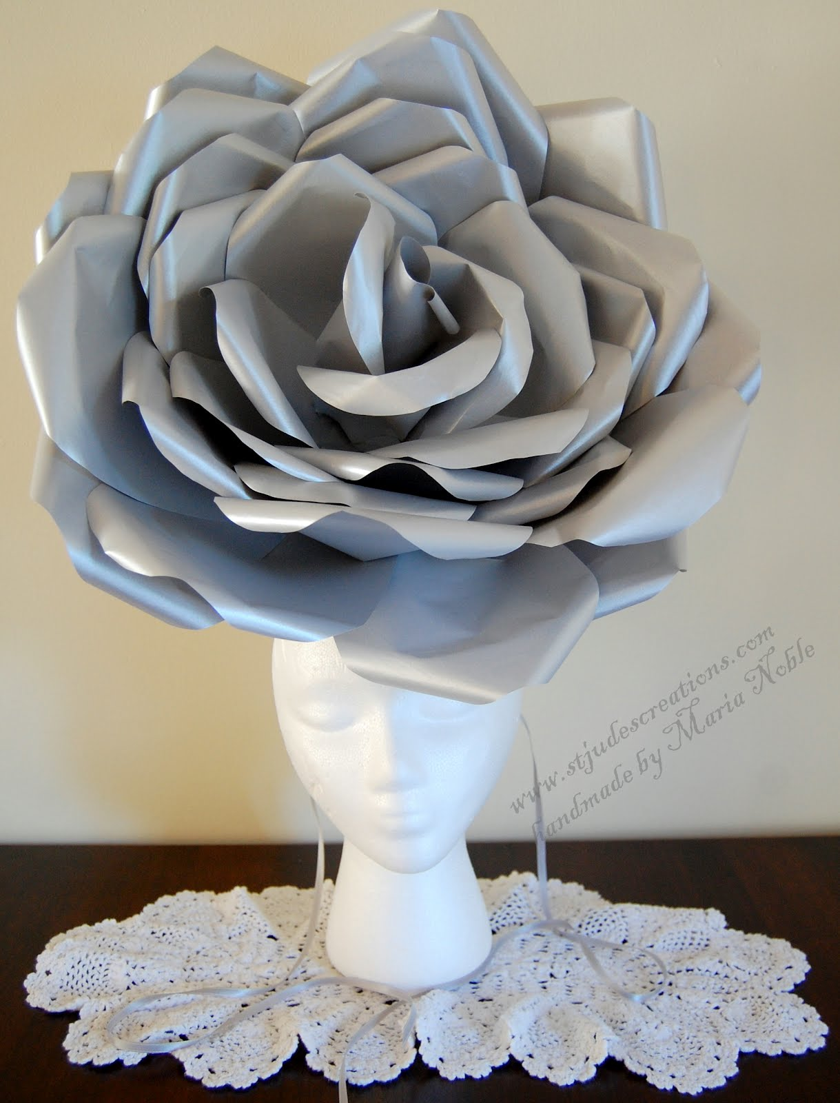 royal wedding hat large paper flower fascinator fashion show chanel