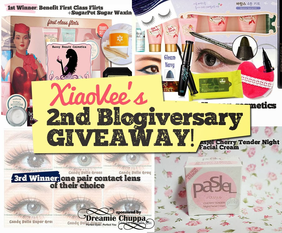 Join Xiao Vee's 2nd Blogiversary Giveaway!