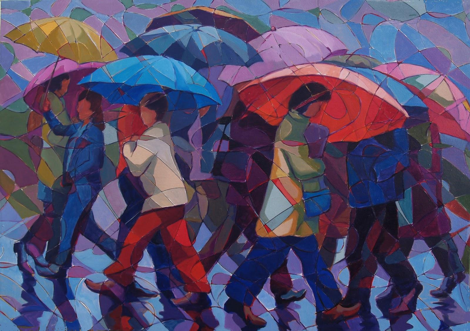 Cuadros juan ruiz ib ez paraguas y sombrillas - Tela de paraguas ...