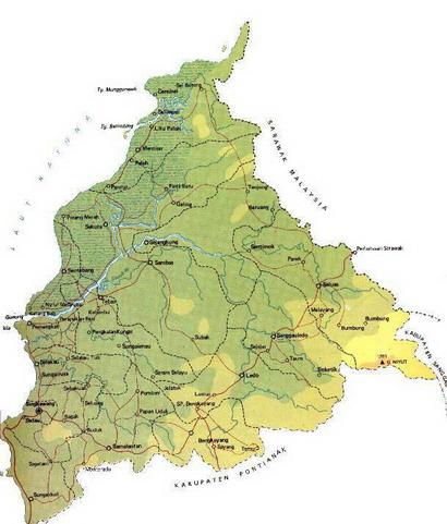 Peta Kabupaten Sambas