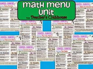 https://www.teacherspayteachers.com/Product/Math-Menu-Unit-from-Teachers-Clubhouse-510114