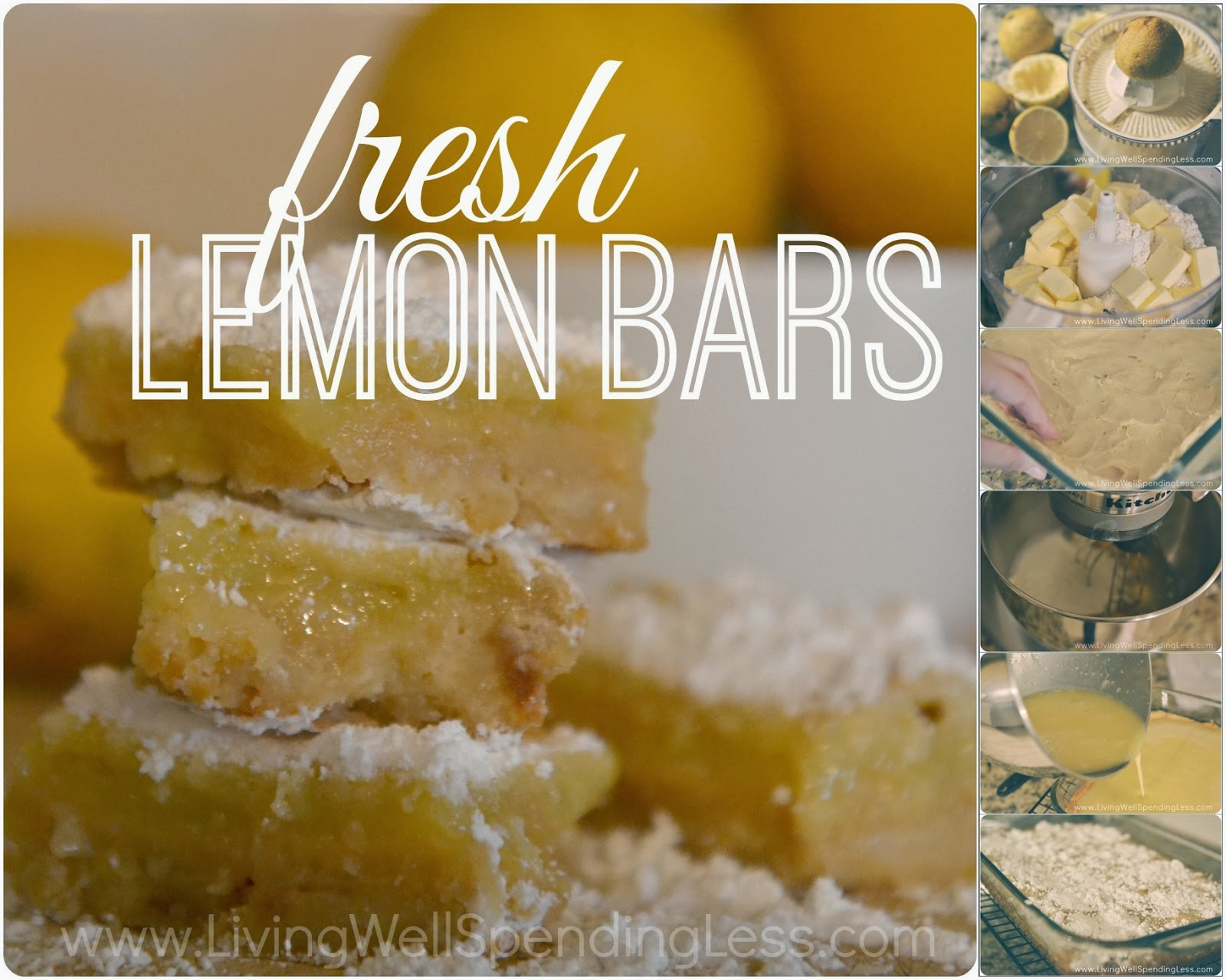 Fresh Lemon Bars Recipe