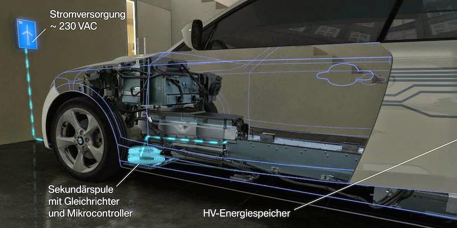 BMWがケーブルを使わないワイヤレス充電システムをテスト中!