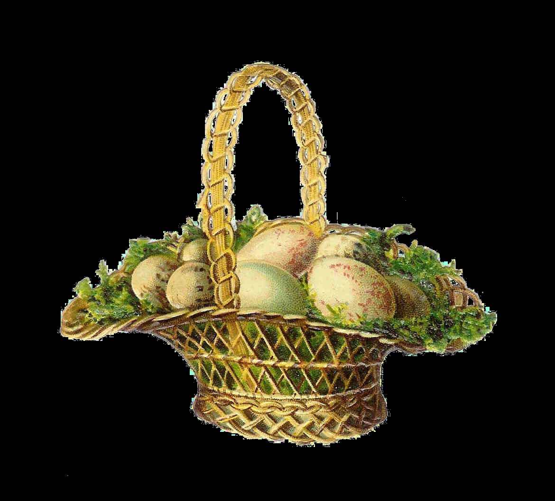 Antique Images: Easter Clip Art: Vintage Easter Basket ...
