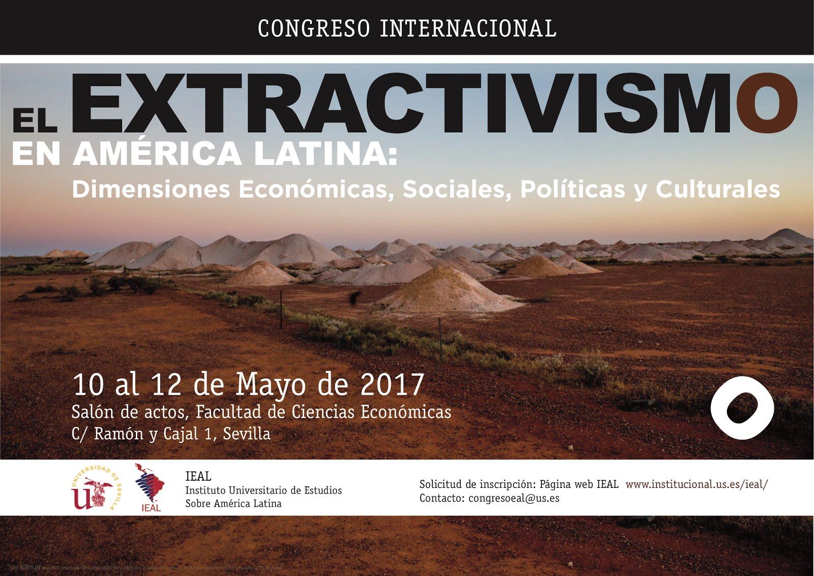 CONGRESO INTERNACIONAL. EL EXTRACTIVISMO EN AMÉRICA LATINA
