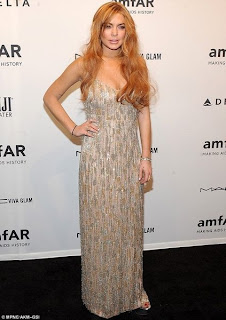 Lindsay Lohan in the THEIA gown