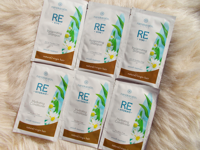 Review of the Nanokeratin System Revive shampoo & Rehdrate conditioner for natural/virgin hair.