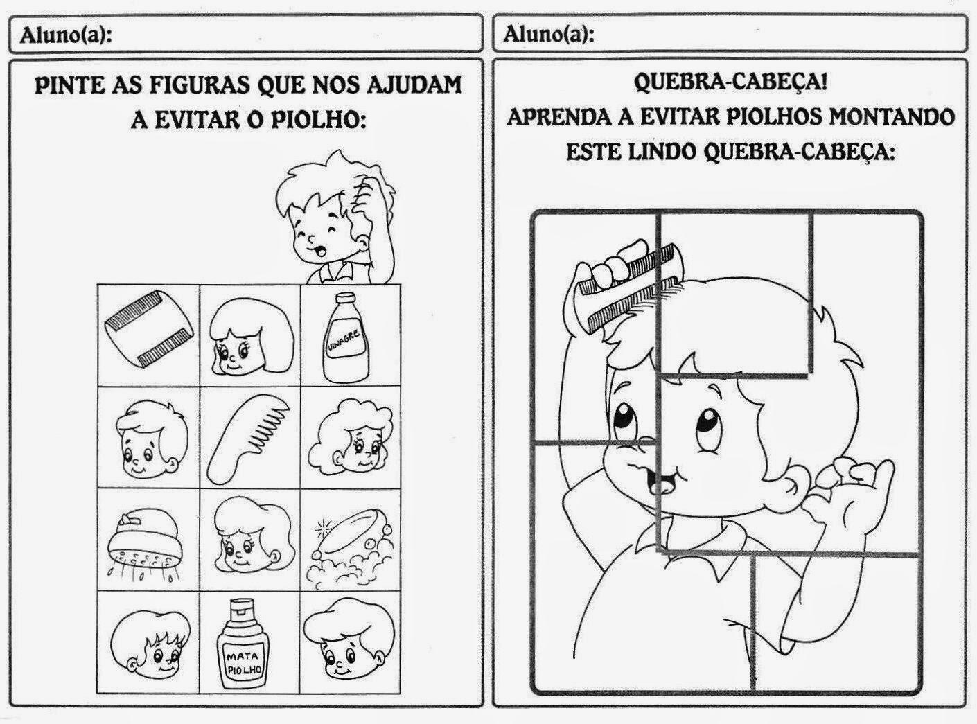 desenhos para colorir de objetos de higiene pessoal