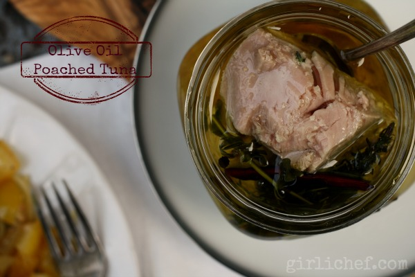 <b>Olive Oil Poached Tuna</b> <i>...inspired by</i> Jiro Dreams of Sushi {food &#39;n flix}