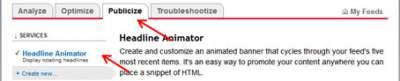 Cara Memasang Headline Animator FeedBurner
