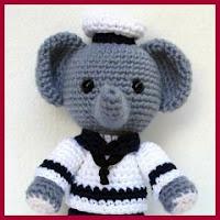 Elefante marinero amigurumi