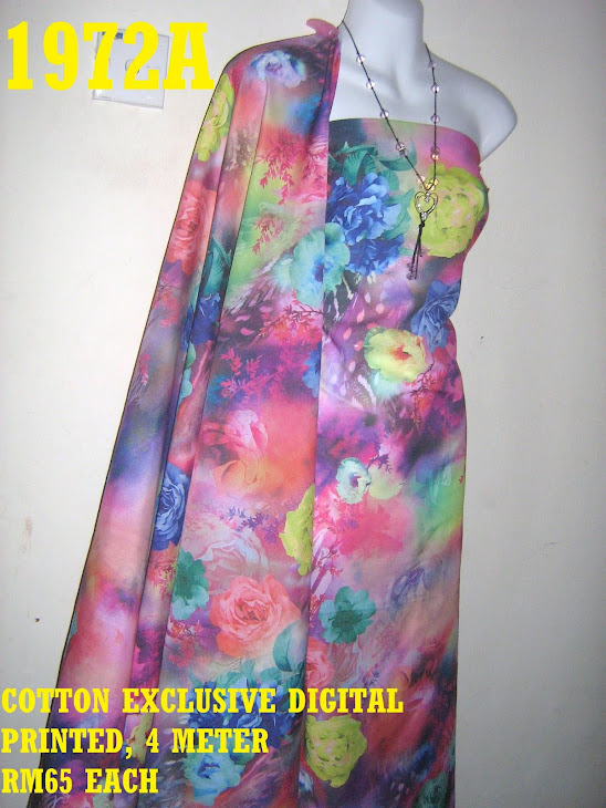 CDP 1972A: COTTON EXCLUSIVE DIGITAL PRINTED, 4 METER