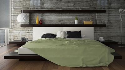 cabecero cama estantes
