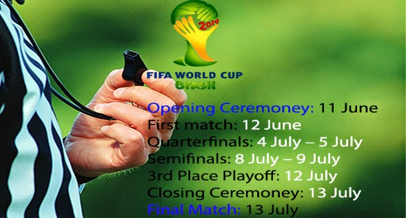 List of Brazil FiFa World Cup Football 2014 News