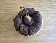 pear and chocolate puddings