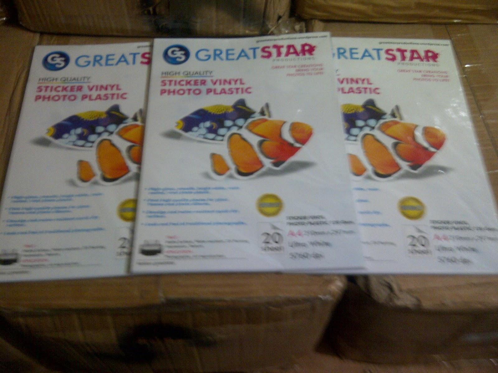 Distributor Great Star Aneka Sticker Dan Transfer Paper Kertas For Dark Light Rp 25000