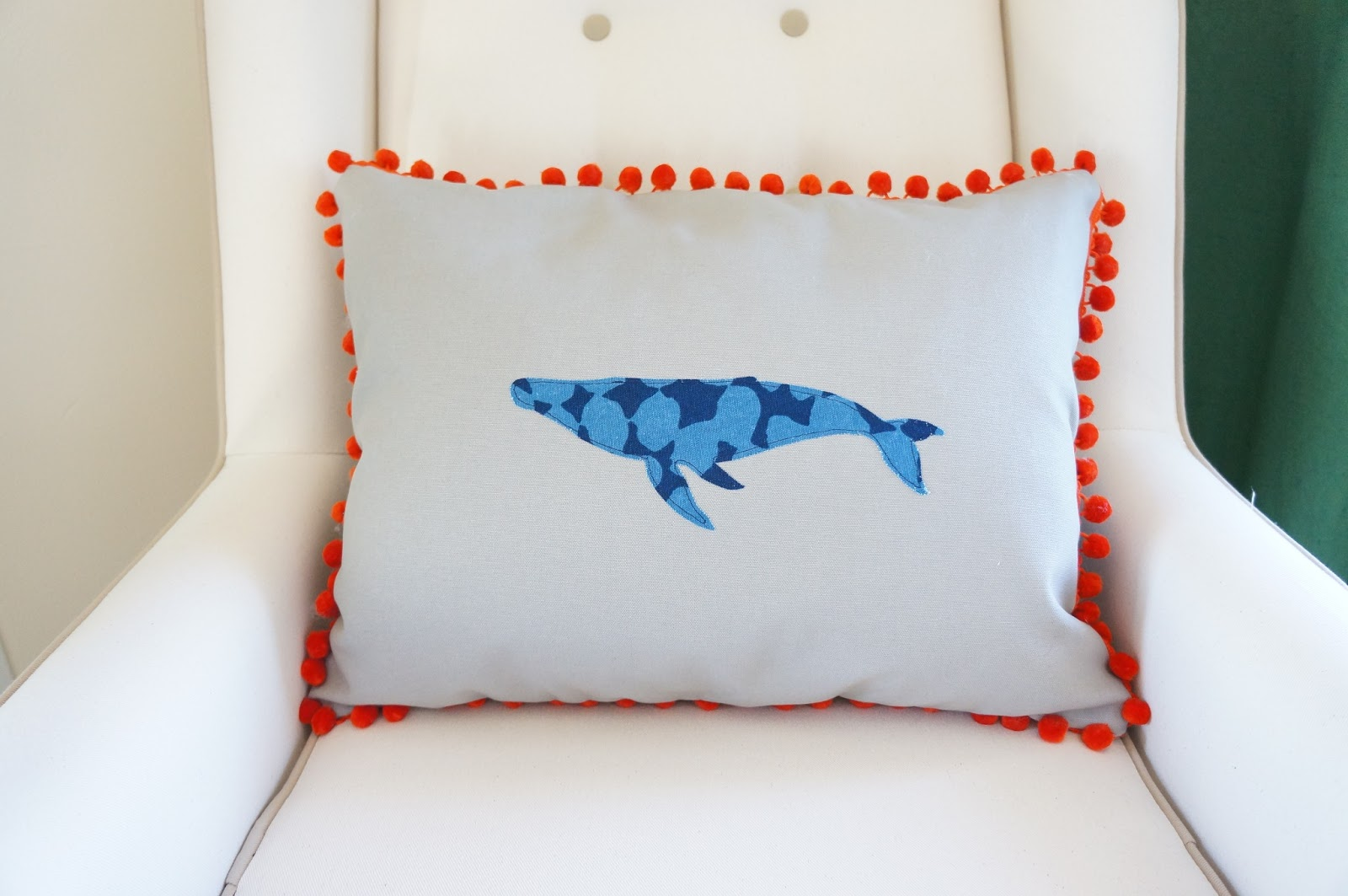DIY Pom Whale Pillow