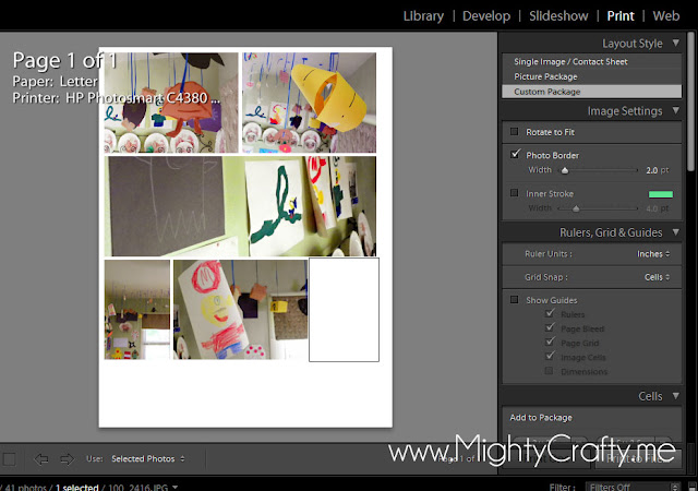 Tips for Lightroom Print Templates - www.MightyCrafty.me