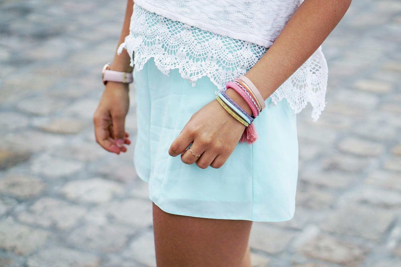 Bracelet multi-liens pastel Una Nox