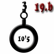 Ejemplo 19.b: Obús (x3) de calibre 10'5