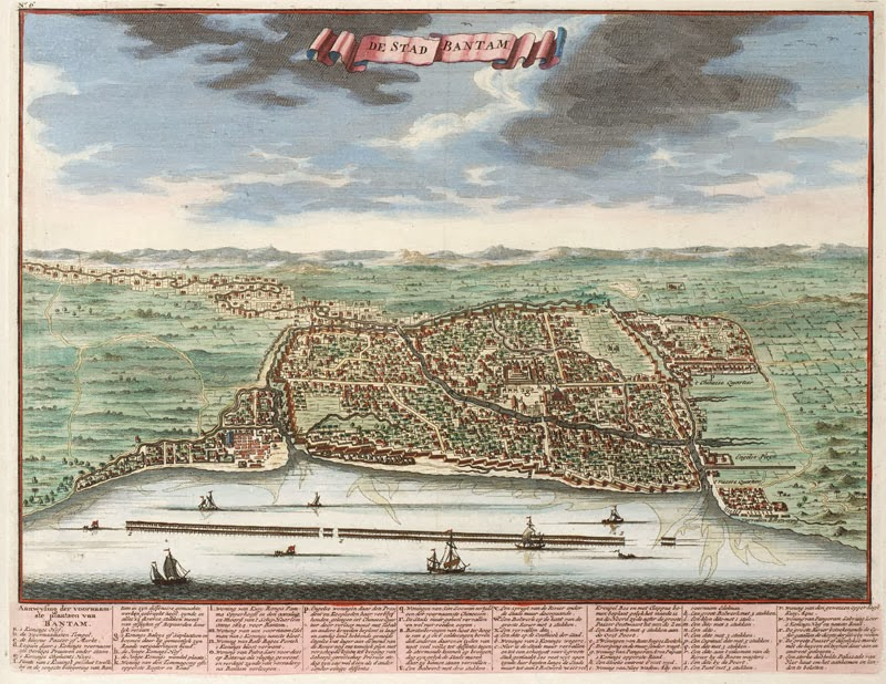 Banten City, Java 1724