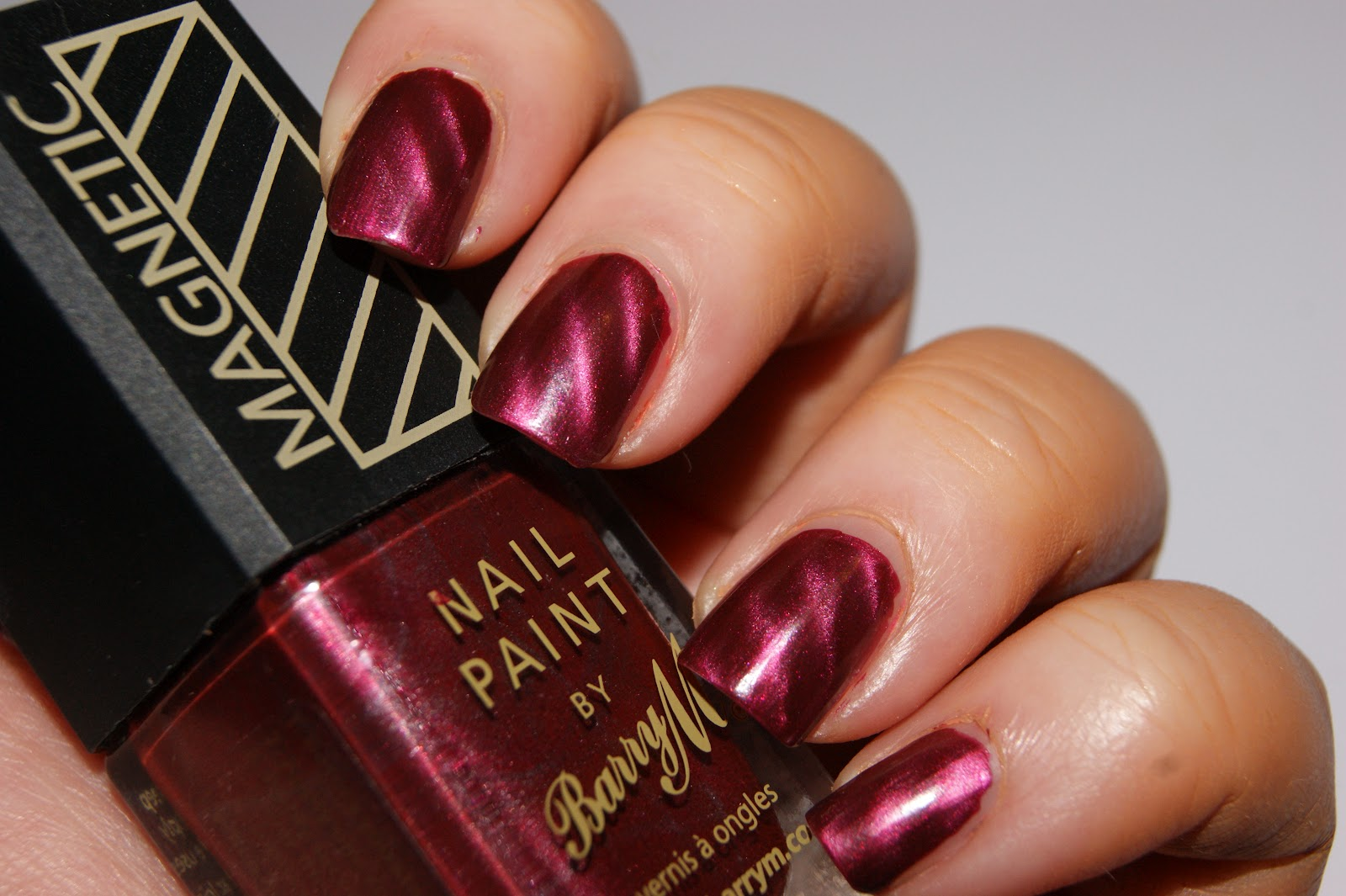 Barry M Magnetic Burgundy Nail Polish - Review | The Sunday Girl